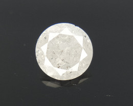 0.58 CTS , Round Brilliant Cut , Light Colored Diamond