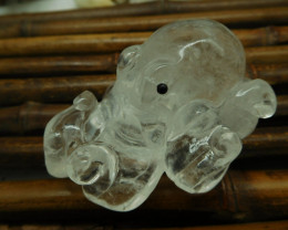 Clear Quartz Carved Octopus (D0279)