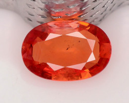 Top Grade 0.60 ct Orange Sapphire ~ K