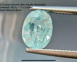 3.15ct Paraiba Color Tourmaline UNHEATED