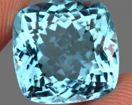 15.97 ct. 100% Natural Earth Mined Top Quality Blue Topaz Brazil