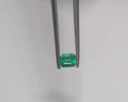 Natural Colombian emerald step cut 0.25  cts