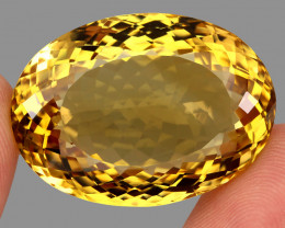 Very Clean 97.99 ct. Natural Earth Mined Top Quality Rich Yellow Citrine