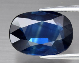 CERTIFICATE Incl.*Big! 6.59ct Natural Earth Mined  Dark Blue Sapphire