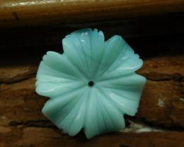 Gemstone carved amazonite flower (G2617)
