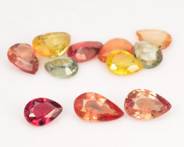 *NoReserve*Sapphire 2.06 Cts 12 Pcs Rare Natural Fancy Mix Color Loose Gems