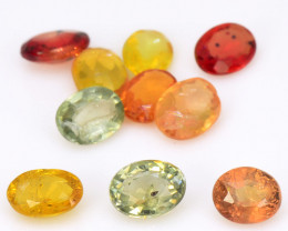 *NoReserve*Sapphire 2.09 Cts 10 Pcs Natural Fancy Mix Color Gemstone