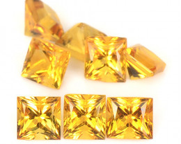 Citrine 1.58 Cts 8 Pcs Fancy Golden Yellow Color Natural Gemstone