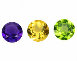 2.38 Cts 3 Pcs Natural Mix Color Fancy Loose Gemstones