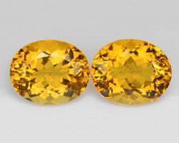 Beryl 6.75 Cts 2 Pcs Rare Golden Yellow Natural Gemstone