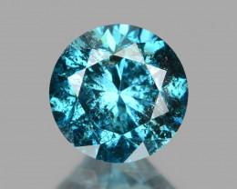 Diamond 0.26 Cts Sparkling Rare Fancy Blue Color Natural