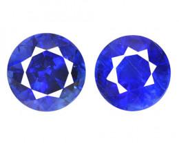 Kyanite 1.42 Cts 2 Pcs Fancy Royal Blue Color Natural Gemstone