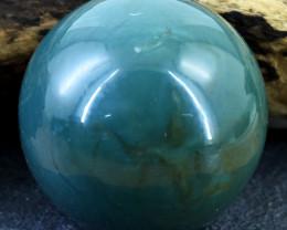 Genuine 855.00 Cts Jade Hand Carved Healing Ball