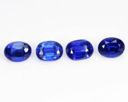 Kyanite 1.03 Cts 4 Pcs Fancy Royal Blue Color Natural Gemstones