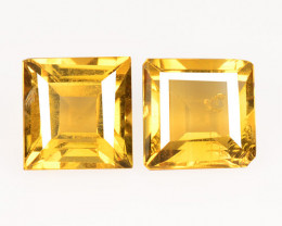 Citrine 1.33 Cts 2 Pcs Fancy Golden Yellow Color Natural Gemstone