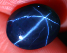 Star Sapphire 6.00Ct Natural 6 Rays Blue Star Sapphire D2311/A39