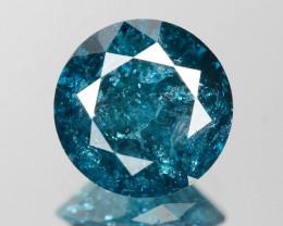 Diamond 1.50 Cts Amazing Rare Fancy BlueColor Natural