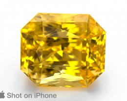 Yellow Sapphire, 15.10ct - Mined in Sri Lanka | Certified by GRS
