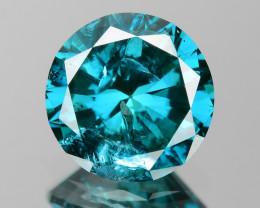 0.75 Cts  Sparkling Rare Fancy  Blue Color Natural Loose Diamond