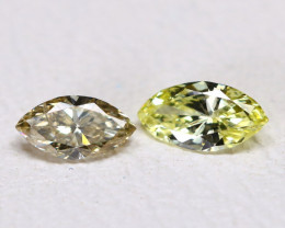 Diamond 0.20Ct 2Pcs Natural Untreated Genuine Fancy Color Diamond B901