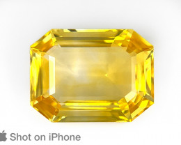 Yellow Sapphire, 8.04ct - Mined in Sri Lanka | Certified by GII