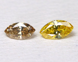 Diamond 0.15Ct 2Pcs Natural Untreated Genuine Fancy Color Diamond B974