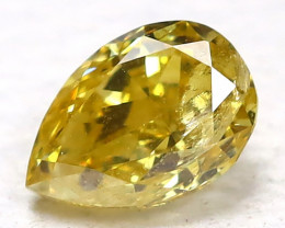 Yellow Diamond 0.14Ct Natural Untreated Genuine Fancy Diamond B976