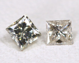 Diamond 0.17Ct 2Pcs Natural Princess Genuine Fancy Color Diamond B938