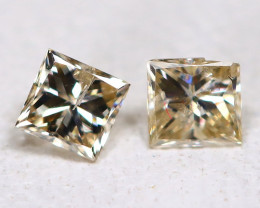 Diamond 0.16Ct 2Pcs Natural Princess Genuine Fancy Color Diamond B961