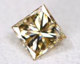 Peach Diamond 0.16Ct Natural Princess Genuine Fancy Diamond B969