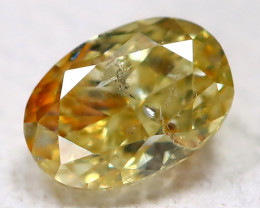 Yellowish Orange Diamond 0.18Ct Natural Genuine Fancy Diamond B951