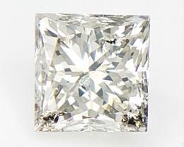 0.20 cts , Princess Cut Diamond , Rare Natural Diamond