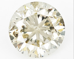 1.02 cts, Round Brilliant Cut , Light Colored Diamond