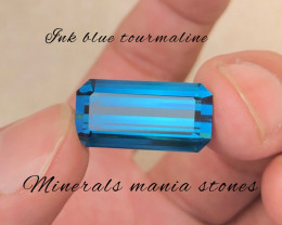 Ink Blue Afghanistan 16.40 Carat Natural Tourmaline