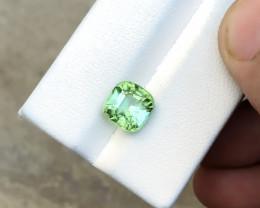 HGTL CERTIFIED 2.89 Ct Natural Green Transparent Tourmaline Gemstone