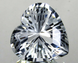 6.50 cts Natural White Topaz Heart Shape Loose Gemstone