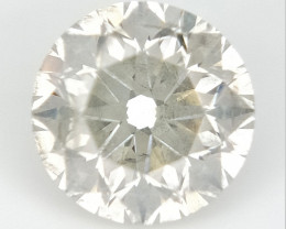 0.75 CTS , Round Brilliant Cut , Light Colored Diamond