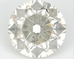 0.75 CTS , Round Brilliant Cut , Light Colored Diamond