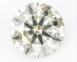 0.52 cts, Round Brilliant Cut , Light Colored Diamond