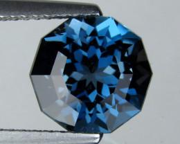 3.44 cts Natural London Blue Topaz Custom Round Shape Loose Gemstone