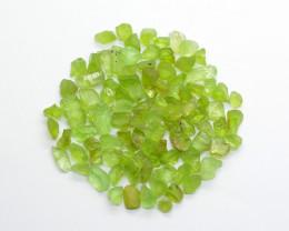 150 CT Top Green  Peridot Crystals@  Pakistan