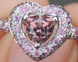 *Valentines Heart* Tourmaline & Pink Sapphire Ring