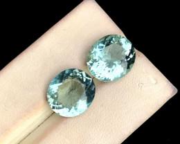 9.45 Carats Natural Aquamarine Gemstone pair