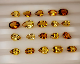 7.75Crt Madeira Citrine Lot Natural Gemstones JI136