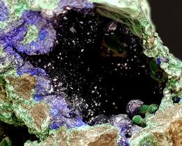 800Crt Azurite & Malachite Specimen 100 Natural Gemstones JI136