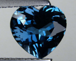 2.24 cts Exquisite Heart Shape Natural London Blue Topaz Loose Gemstone