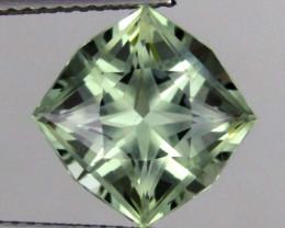 4.40 cts Marvelous Cushion Custom Missing Cut Natural Prasiolite Loose Gems