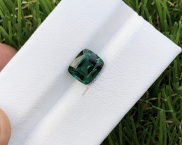 2.23 carat bluish green color faceted tourmaline from  Afghanistan