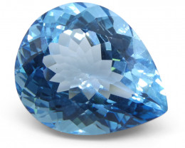 38.4 ct Pear Blue Topaz