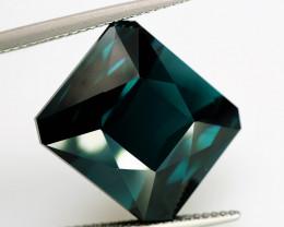 Rare! Big 22.86 ct VVS Natural Greenish Blue Tourmaline (Indicolite)
